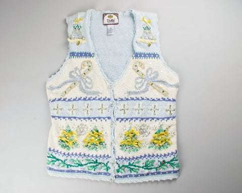 Light Blue Christmas-Small Christmas Sweater