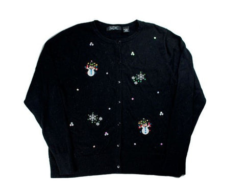 Small Christmas Sweater Snowman-Small Christmas Sweater