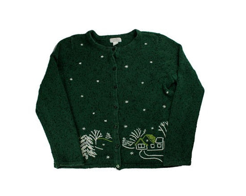 Snowy Night-Small Christmas Sweater
