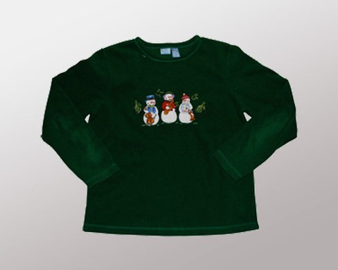 Snowmen Trio-Medium Christmas Sweater