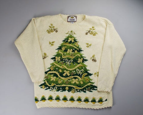 Green And Gold-Small Christmas Sweater