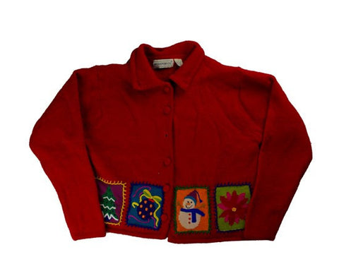 Stitched Blocks-Large Christmas Sweater
