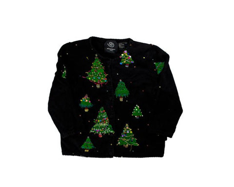 Pretty trees: a Michael Simon Sweater-X-Small Christmas Sweater