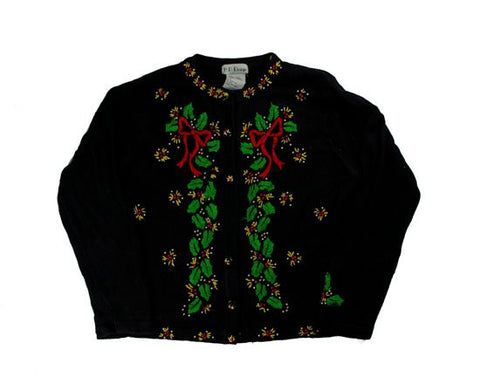 Bows And Vines-Small Christmas Sweater