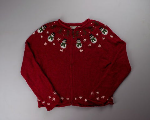 Simple Snowmen-Small Christmas Sweater