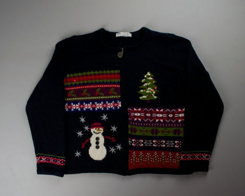 Border Here And Border There-Small Christmas Sweater