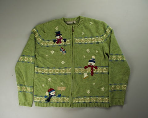 Snow Borders-Small Christmas Sweater