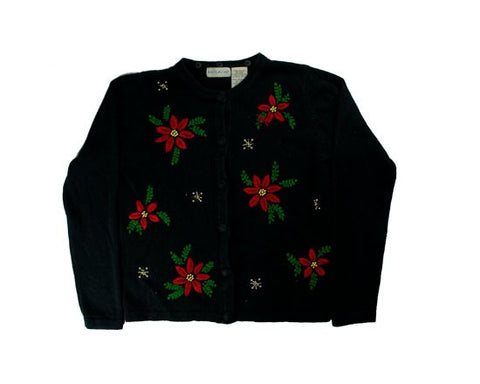 Flowers And Snow-X-Small Christmas Sweater