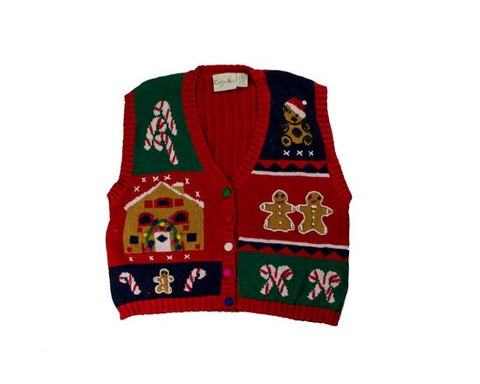 Sweet Vest-Small Christmas Sweater