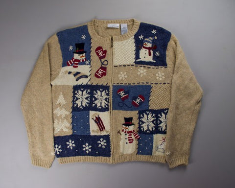 Holiday Squares-Small Christmas Sweater