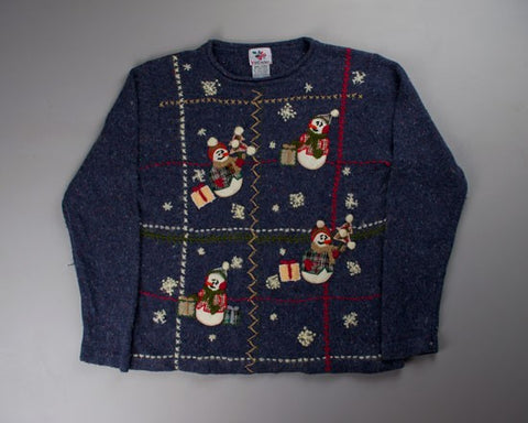 Busy Snowmen-Small Christmas Sweater