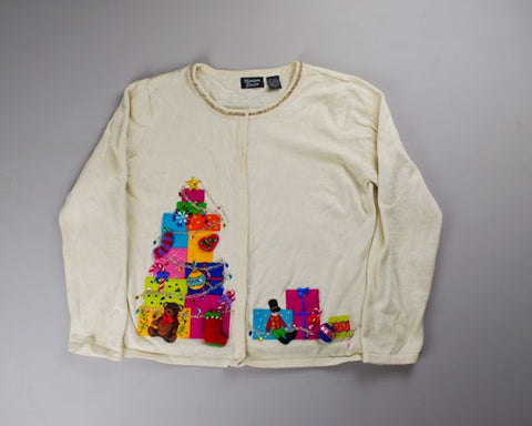 Stack The Gifts On My Sweater-Small Christmas Sweater