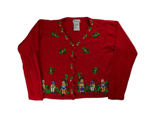 Stitching And Beads-Small Christmas Sweater