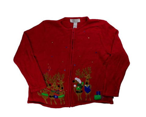 Reindeer Pals-Large Christmas Sweater