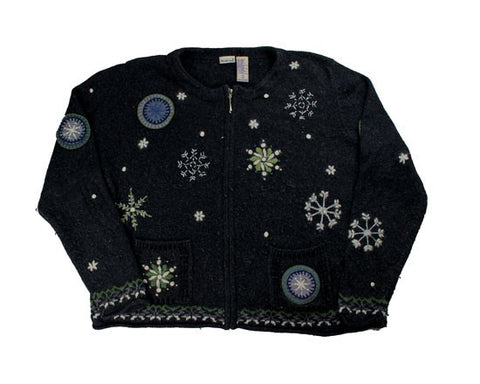 Falling Snow-Large Christmas Sweater