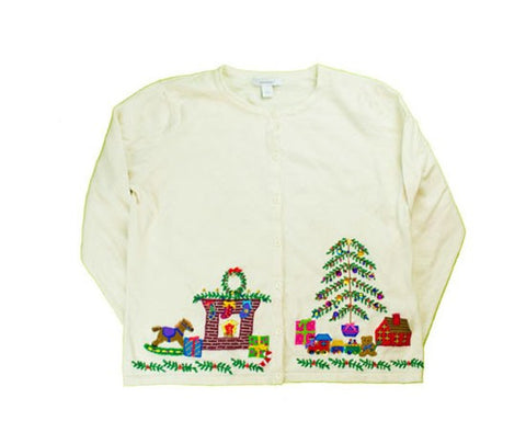 Santa Was Here-Small Christmas Sweater