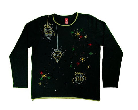 Stars And Beads-Small Christmas Sweater
