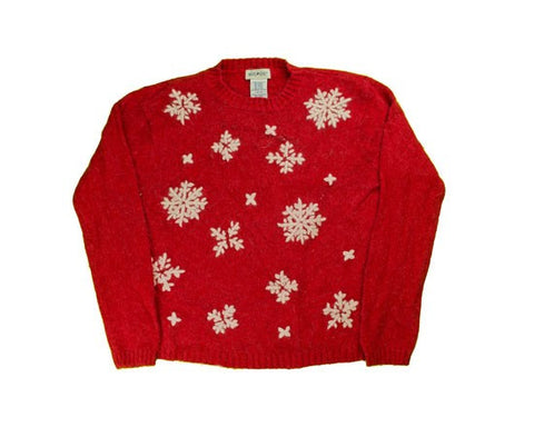 Stitched Flakes-Small Christmas Sweater
