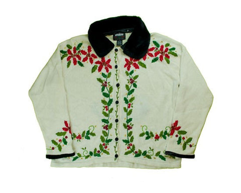 Flowers And Vines-Medium Christmas Sweater