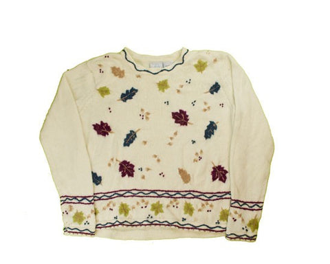 Fall Leaves-Small Christmas Sweater