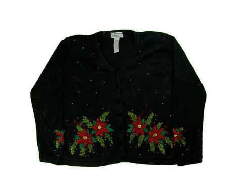 Beaded Flowers-Small Christmas Sweater