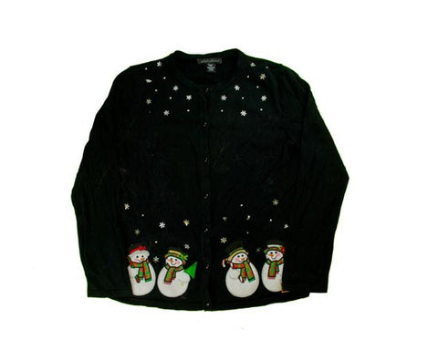 Fancy Snowmen-Small Christmas Sweater