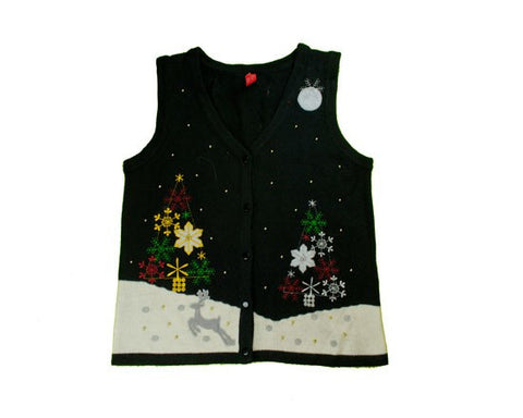 Snow Trees-Small Christmas Sweater