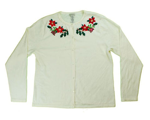 Simple Flowers-Medium Christmas Sweater