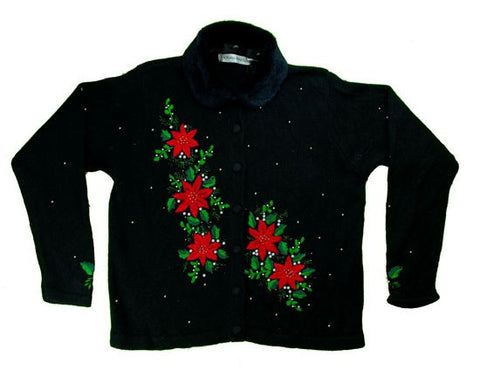 Stitched Flowers-Small Christmas Sweater