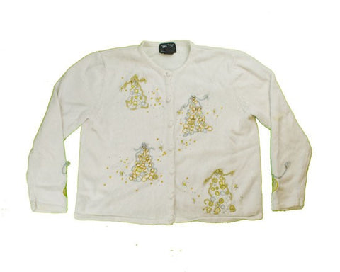 Silver And Gold-Medium Christmas Sweater
