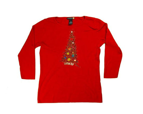 Lean To The Right-X-Small Christmas Sweater