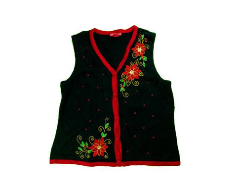 Accented Flowers-Small Christmas Sweater