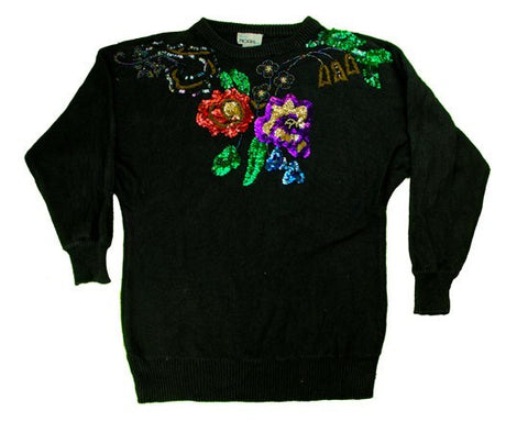 Just A Few Sequins-Small Christmas Sweater