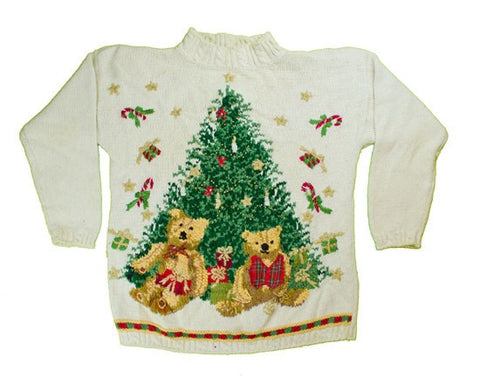 Falling Gifts-Small Christmas Sweater