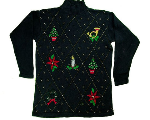 Just A Little Bead Work-Small Christmas Sweater