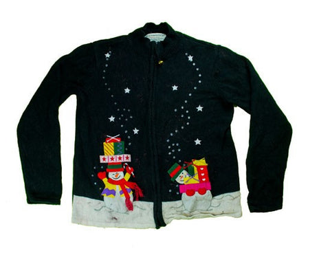 Snowman Gifts-Small Christmas Sweater