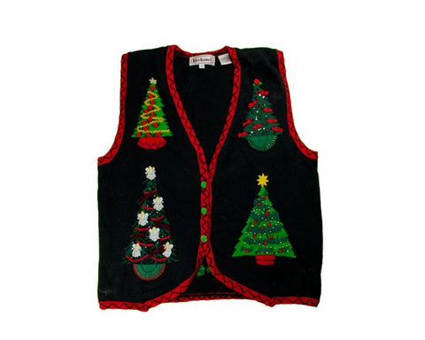 Oh Christmas Tree-Vest Small Christmas Sweater