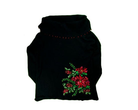 Beaded Flowers-x-Small Christmas Sweater