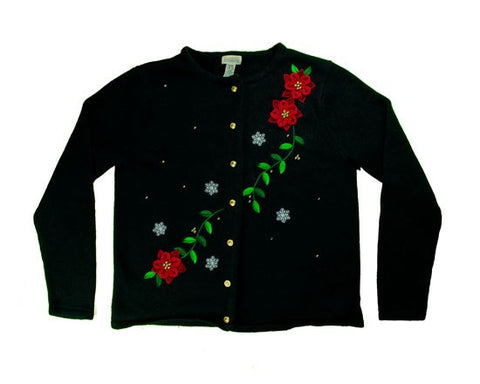 Stitched Vines-Small Christmas Sweater