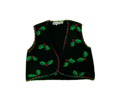 Holly Vest-Medium Christmas Sweater