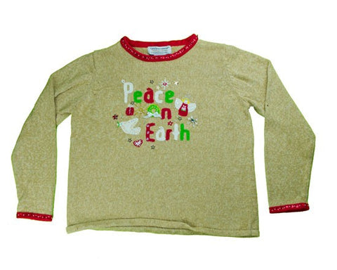 Peace On Earth-Medium Christmas Sweater