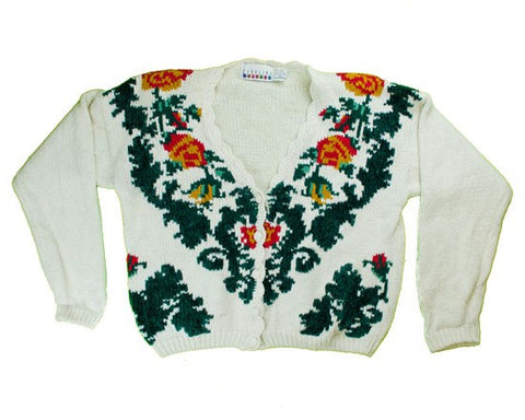 I Think They Are Flowers-Small Christmas Sweater