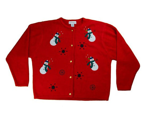 The Snowmen Want A Hug-Large Christmas Sweater