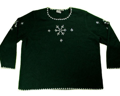 Beaded Flakes-XX-Large Christmas Sweater