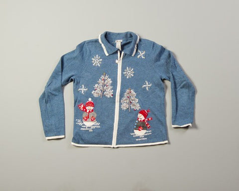Wintertime Snowmen-Small Christmas Sweater