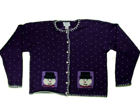 Royal Purple And Pearl-Medium Christmas Sweater