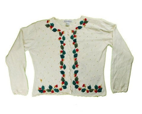 Holly Borders-Small Christmas Sweater
