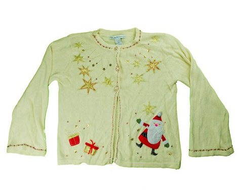 One Gold Star Just Won't Do-Small Christmas Sweater