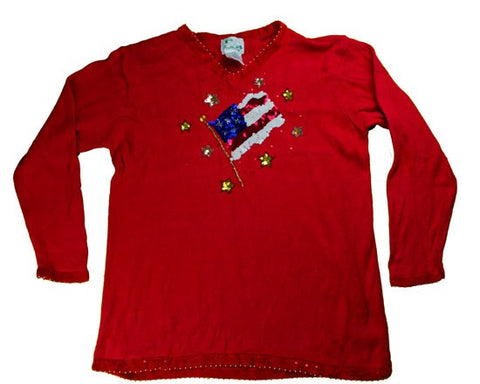 Stars And Sweaters Forever-Large Christmas Sweater