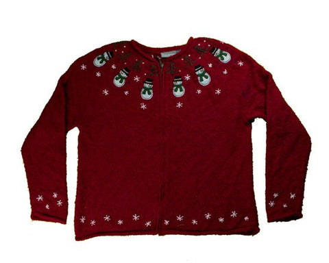 Ring Of Snowmen-Medium Christmas Sweater